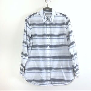 Equipment Femme Stripe Button Down L/S shirt Sz S